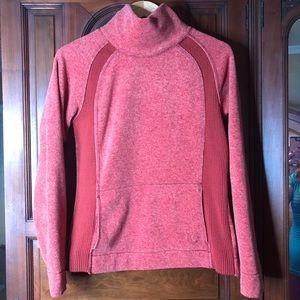 Lolë Orange Fleece Turtle Neck Sweater